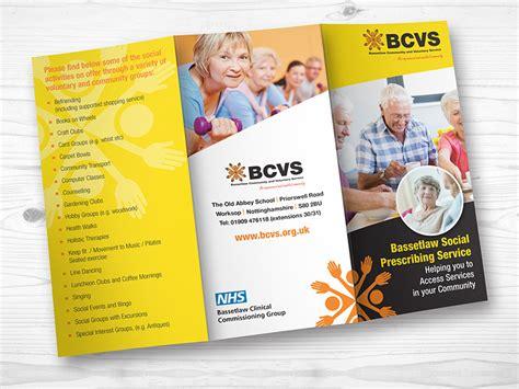 leaflet design chesterfield bcvs leaflets priory graphics worksop our work