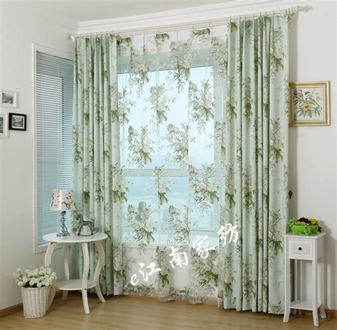 Country Curtains For Living Room American Country Style Living Room Bedroom Linen Cotton Curtain Cloth Product Customization