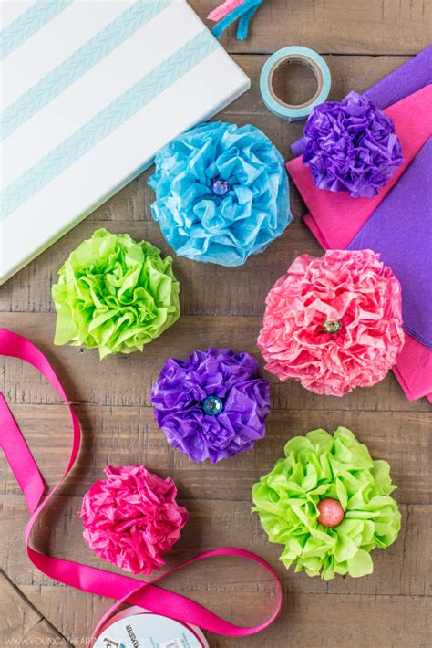 How Do You Make Paper Flowers With Tissue Paper - tissue paper flower bouquet canvas at