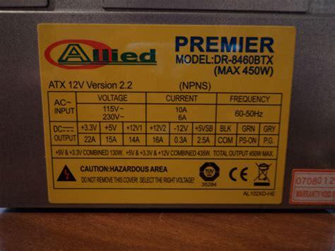 provare alimentatore pc 450w sono sufficenti per provare il pc tom s hardware