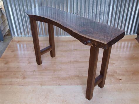 live edge walnut sofa table buy a custom made live edge walnut console table made to
