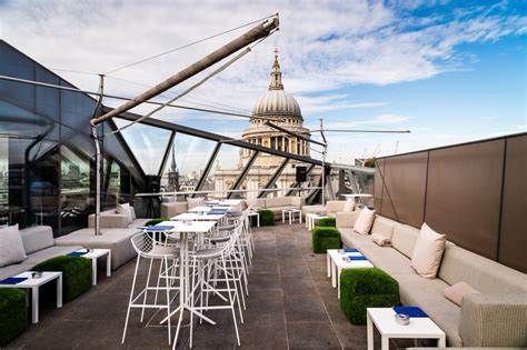 bar on top of one new change bars with a view london london s best views bars