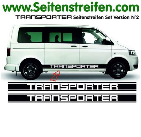 Aufkleber Vw Bus T5 by Vw Bus T4 T5 Transporter Bus Seitenstreifen Aufkleber Set