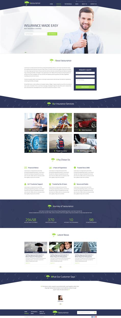 wordpress themes data center iaasurance wordpress template by psdcenterthemes psdcenter com