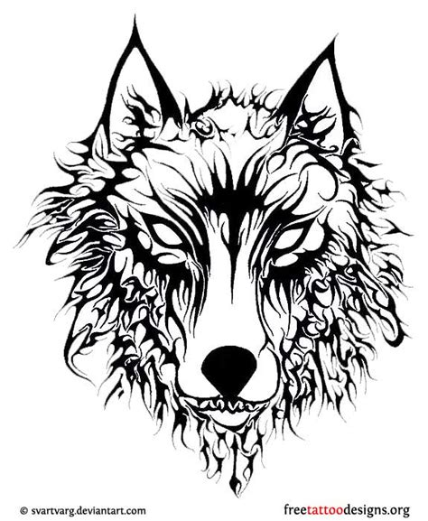 evil tribal tattoos evil tribal wolf design
