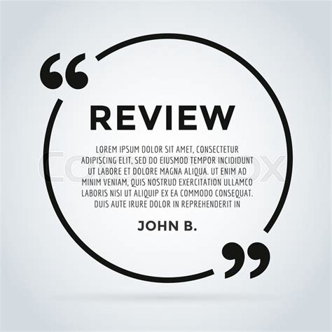 Website Review Quote Citate Blank Template Website Review Vector Icon Quote Comment Template Customer Review Website Template