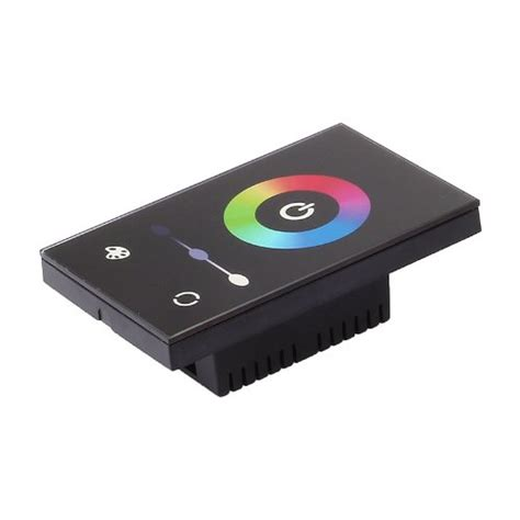 led light controller elp0346 wall mount touch panel rgb led light controller with rainbow ring