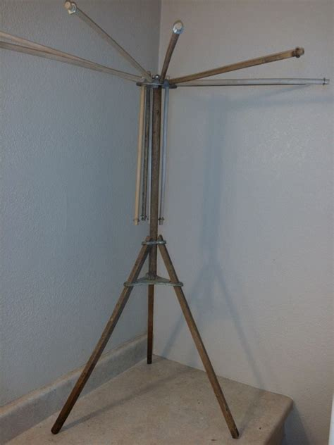 Fold Out Drying Rack by Antique Clothes Drying Rack Vintage Wood Fold Out Away