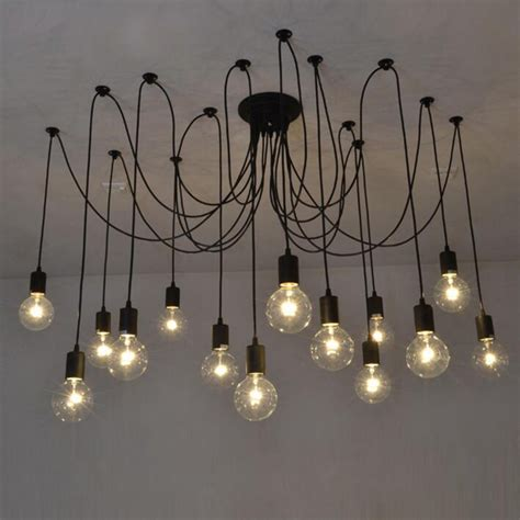 Diy Bulb Chandelier Mordern Bar Nordic Retro Edison Bulb Chandelier Antique Vintage Loft Diy E27 Spider Ceiling