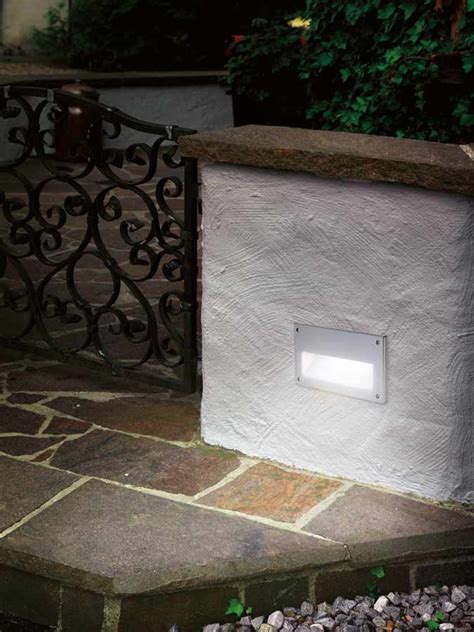 Zimba Silver Cast Aluminium Outdoor Letterbox Brick Light Brick Lights Outdoor Lighting