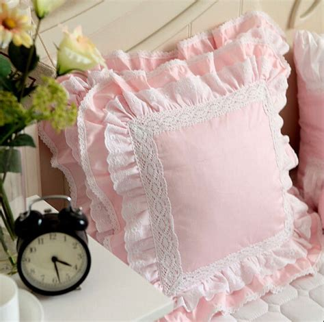 ottomane französisch luxus wei 223 rosa spitzenkante r 252 sche platz kissen fall
