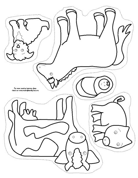 printable animal stick puppets free coloring pages of old macdonald farm