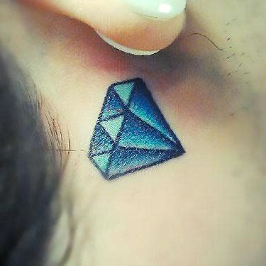 diamond tattoo behind ear meaning demonic protection tattoo design