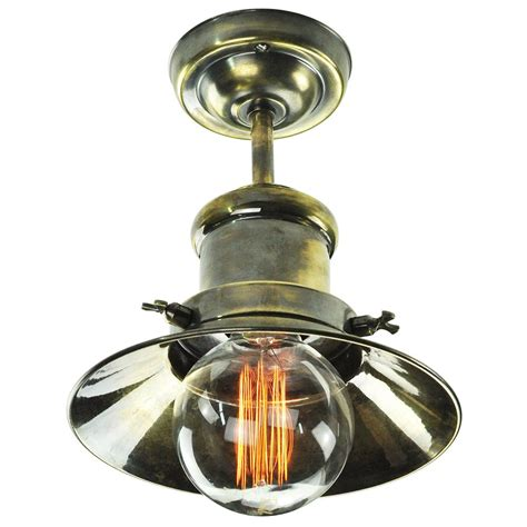 edison semi flush ceiling light in industrial nautical design