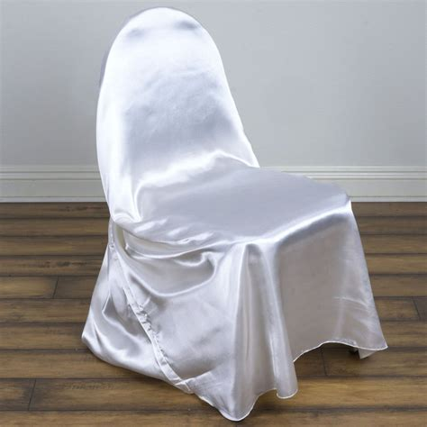 White Universal Chair Covers white universal satin chair covers efavormart