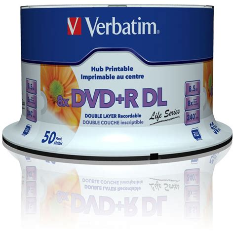 Dvd R Verbatim Spindel Isi 50 verbatim dvd r dl 8 5 gb bedruckbar 50er spindel 97693