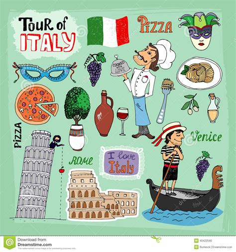italia clipart visite d illustration de l italie illustration de vecteur
