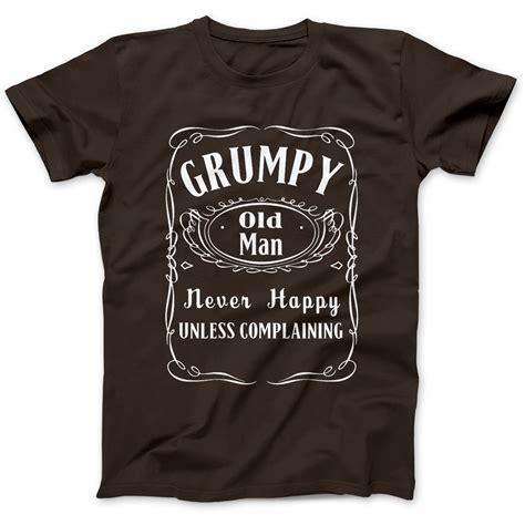 christmas present for grumpy old man grumpy git grandad gift t shirt premium cotton ebay