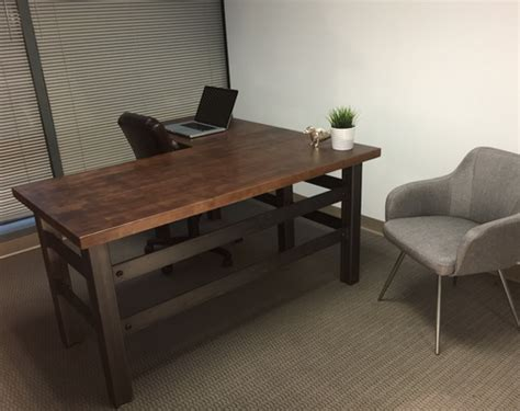 industrial design l buy a hand crafted l shape brooklyn industrial office desk