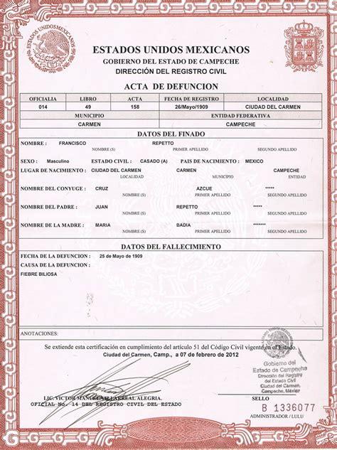 certificado de defuncion actas de defuncion guadalajara