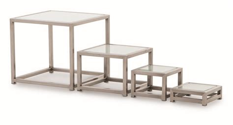 steel amp style stainless steel buffet tables with glass top
