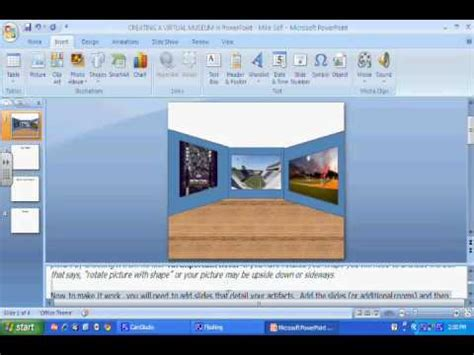 creating a virtual museum in microsoft powerpoint youtube