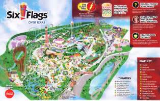 map of six flags six flags 2015 park map