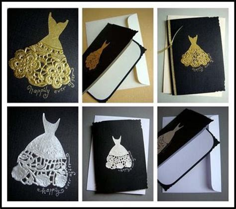 Handmade Wedding Cards Ideas - 4weddingku handmade wedding dress card