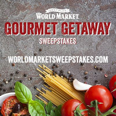 Sweepstakes Fish Table - world market s gourmet getaway sweepstakes enter for a chance to win a 7 day