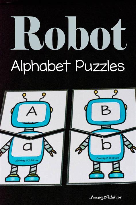 printable abc puzzle free printable robot alphabet puzzles robot free