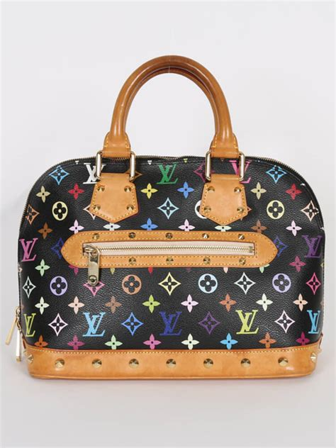 louis vuitton alma pm monogram multicolore canvas noir