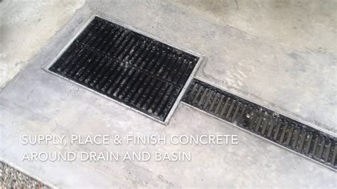 Garage Floor Drainage System By Concrete Innovations   YouTube