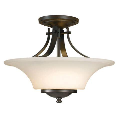 bronze semi flush mount light feiss barrington 2 light oil rubbed bronze semi flush