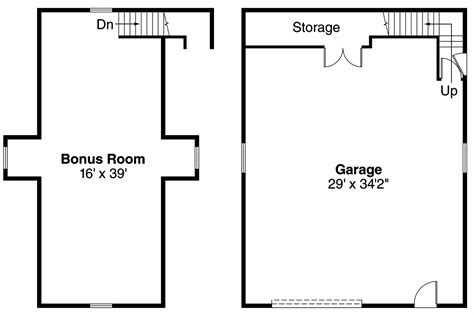 garage floor plans with bonus room traditional house plans garage w bonus 20 026