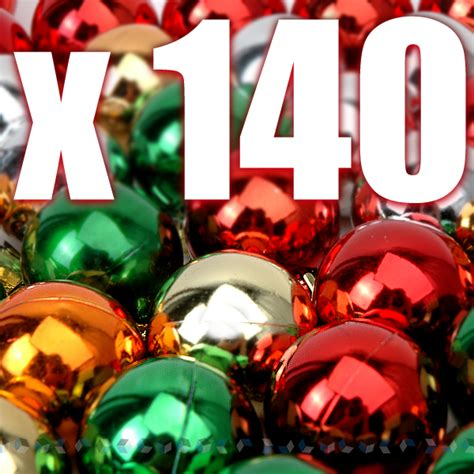 140 x christmas tree ornaments shinning balls bulk new ebay