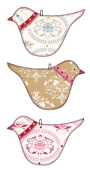 printable bird ornaments papier tilda on pinterest manualidades decoupage and
