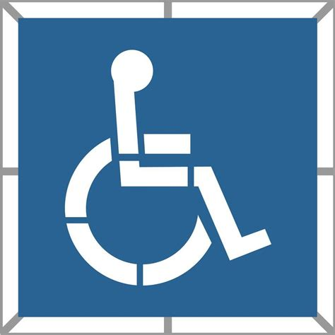 disabled parking template stencil ease 48 in two part handicap stencil cc0111a48