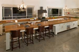 Long Kitchen Island Designs Long Kitchen Islands Captainwalt Com