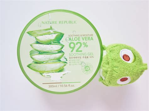 Nature Republic Aloe Vera Soothing Gel For Acne mooeyandfriends nature republic aloe vera soothing gel