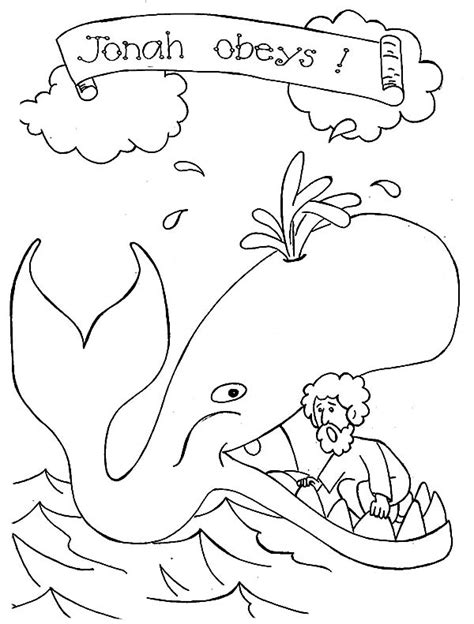 jonah obeys coloring page 85 coloring page jonah printable coloring page