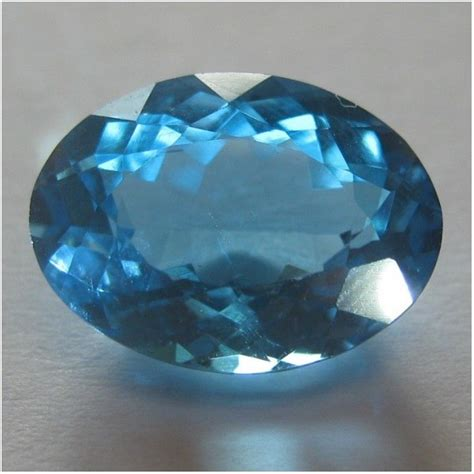 Blue Topaz 1 48 Carat jual batu topaz swiss blue oval cut 3 48 carat kualitas