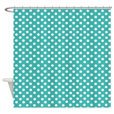 Turquoise Teal Polka Dot Shower Curtain By Inspirationzstore