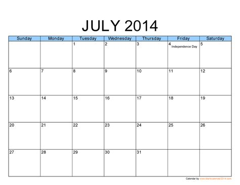 july 2014 calendar template best photos of printable monthly calendar template july