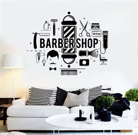 Hiasan Unik Barbershop dekorasi salon dan barbershop menggunakan mural dan stiker