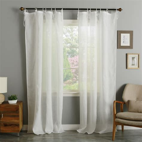 sheer curtains pottery barn curtains belgian flax linen sheer drape pottery barn