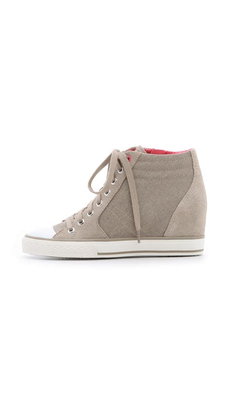 Dkny Kanvas dkny canvas wedge sneakers in lyst