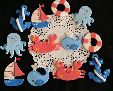 Nautical Baby Shower Cake Toppers by Ahoy Its A Boy Nautical Cake Toppers Nautical Baby Shower