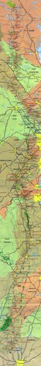 appalachian trail map zach s thru hike 2006