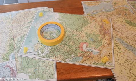 diy map wallpaper tweaking the entry with diy faux map wallpaper the