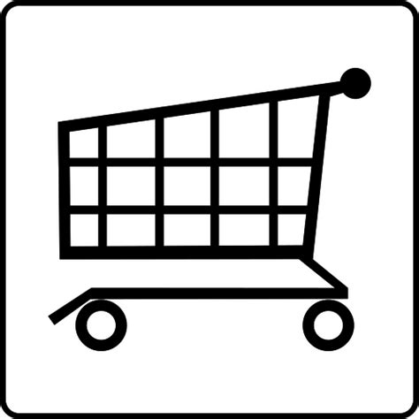 Supermarket Sign Vector Image Public Domain Vectors Shopping Cart Coloring Page